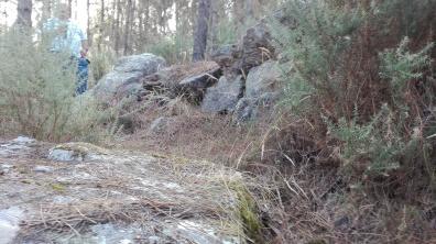 Monte das Pedras de Sta. Mariña, Corcoessto. Val fluvial do Lourido.