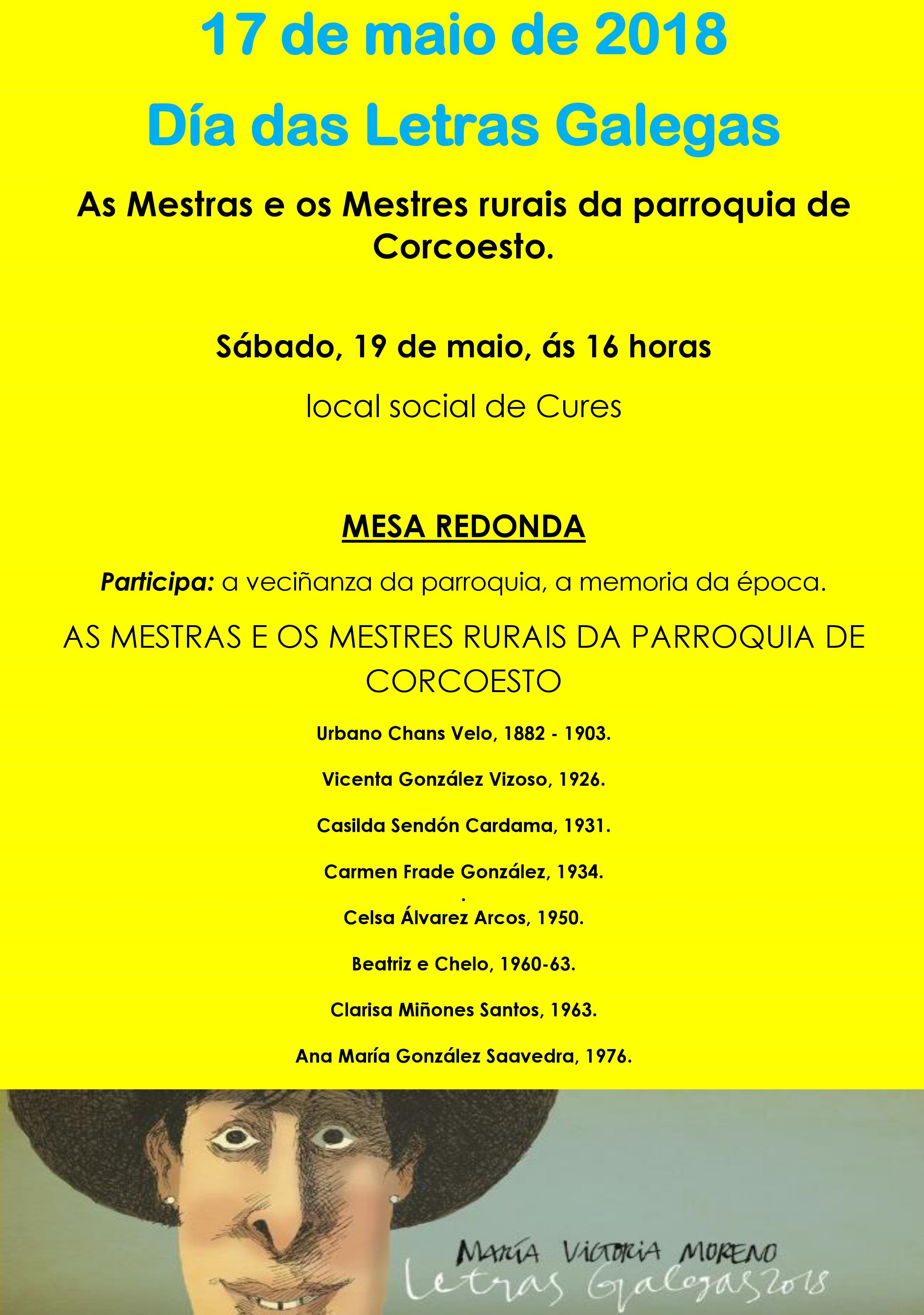 LETRAS GALEGAS CORCOESTO
