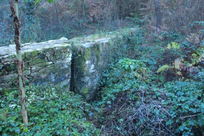 paredón no val fluvial do Lourido