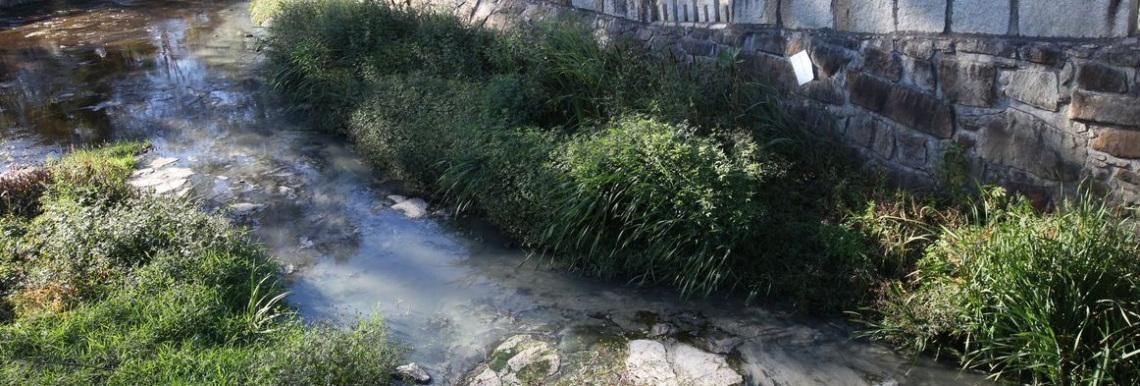 río Anllóns contaminado Carballo